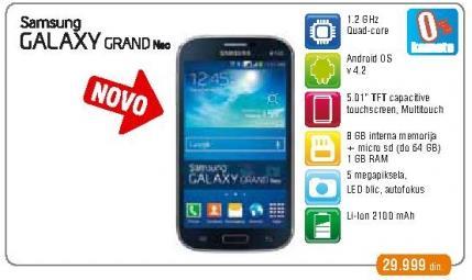 Mobilni telefon Galaxy Grand Plus