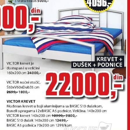 Krevet Victor 140x200