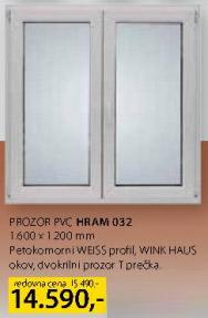 Prozor PVC Hram 032 dvokrilni