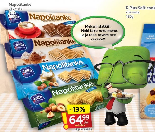 Napolitanke šlag i čokolada
