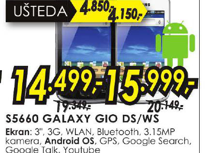 Mobilni Telefon S5660 GALAXY GIO WS