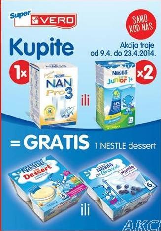 1 Nestle dessert GRATIS