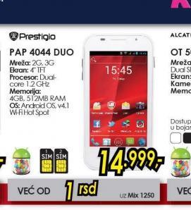 Mobilni telefon MultiPhone PAP4044DUO
