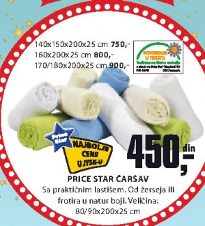 Čaršav Price Star