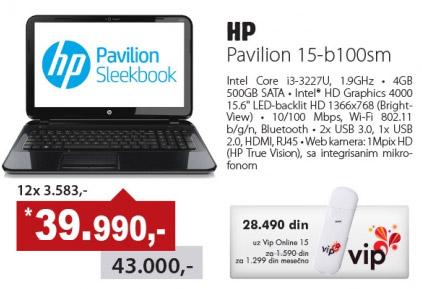 Laptop Pavilion 15-b100sm