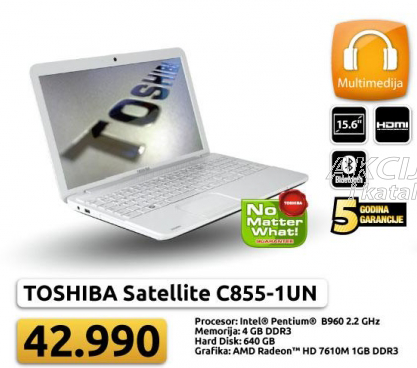 Laptop Satellite C855-1UN