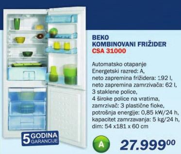 Kombinovani frižider Csa 31000