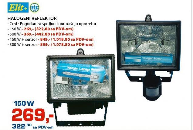 Halogeni reflektor 500W sa senzorom