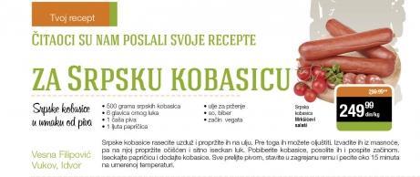 Recept - Srpske kobasice u umaku od piva