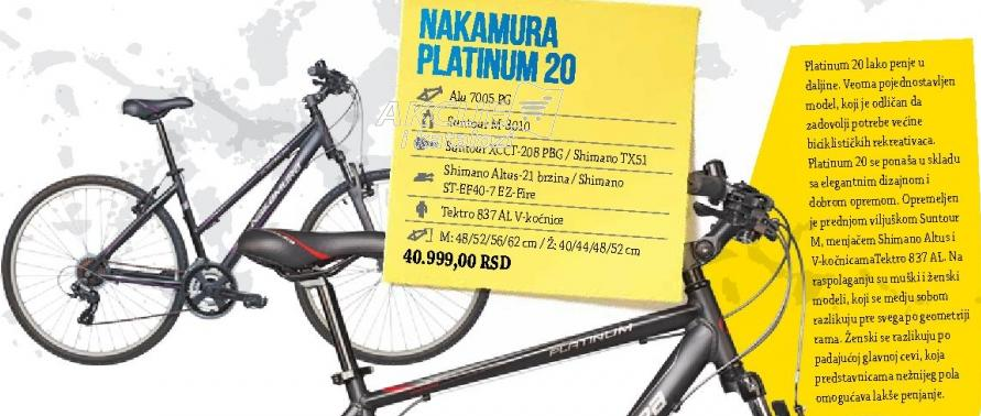 Nakamura Platinum 20, žensko