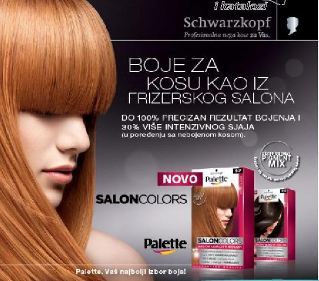 Boje za kosu kao iz frizerskog salona Schwarzkopf