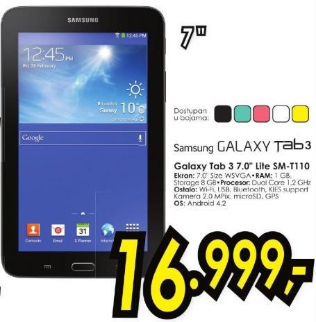 """Tablet Galaxy Tab3 7.0"""" Lite Sm-T110"""
