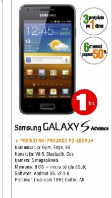 Mobilni Telefon Galaxy S Advance