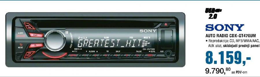 Auto Radio CDX GT470UM