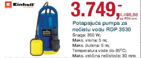 Potapajuća pumpa za nečistu vodu Rdp 3530