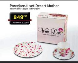 Porcelanski set Desert Mother
