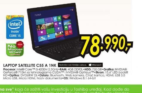 Laptop Satellite C55-A-1NK