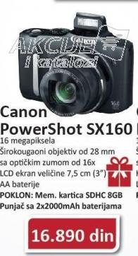 Digitalni Fotoaparat Powershot Sx 160