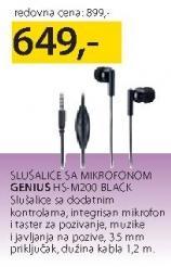 Slušalice sa mikrofonom HS-M200