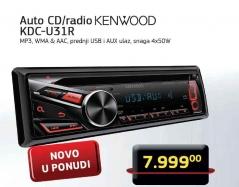 Auto CD/radio KDC-U31R