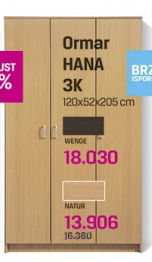 Ormar Hana 3K, wenge