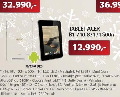 """Tablet 7""""Iconia Tab B1-710-83171G0"""