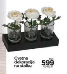 Cvetna dekoracija na stalku
