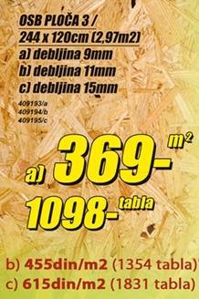 OSB ploča 3 11mm