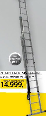 Aluminijumske merdevine STS Trodelne