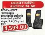 Bezicni telefon Gigaset A120 Duo Im East