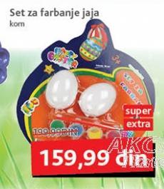 Set za farbanje jaja