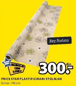 Plastificirani stolnjak Price Star