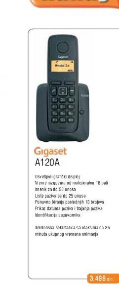 Fiksni Telefon Gigaset A120a
