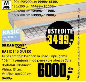 Dušek, Basic S10 90x190/200 cm