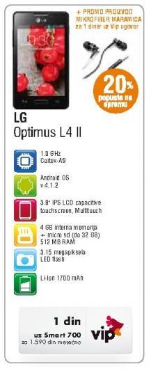 Mobilni telefon Optimus L4 II