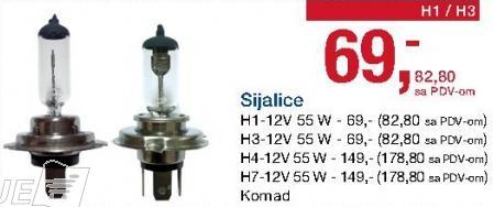 Sijalica H3-12V 55 W