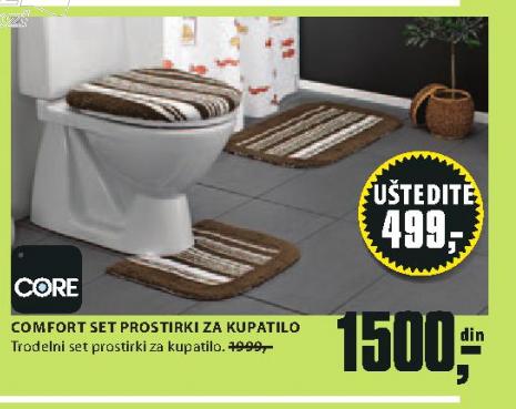 Set prostirki Comfort, za kupatilo