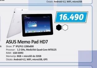 Tablet MemoPad HD7 ME173X-1A062A