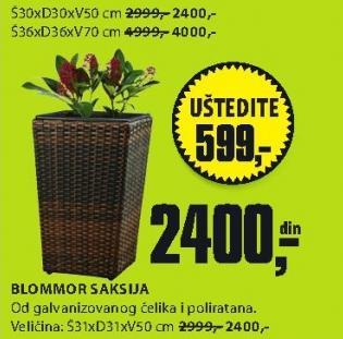 Saksija Blommor 31x31x50