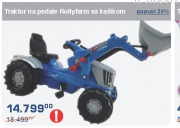 Traktor na pedale Rollyfarm sa kašikom