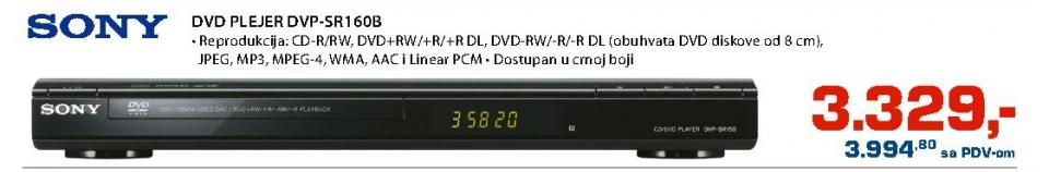 DVD pleyer DVP-SR160B