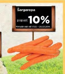 Šargarepa na popustu