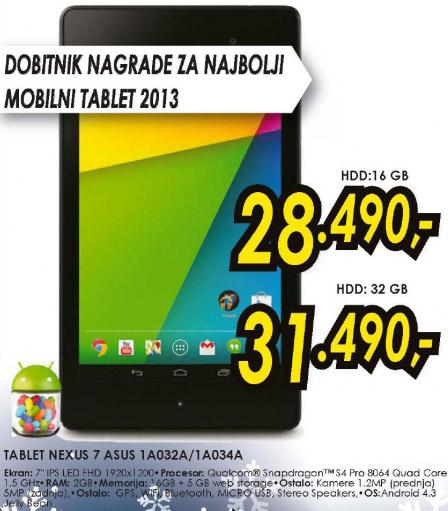 Tablet Nexus 7 1A032A