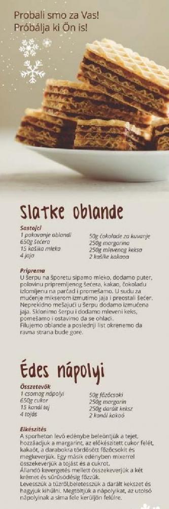 Recept Slatke oblande