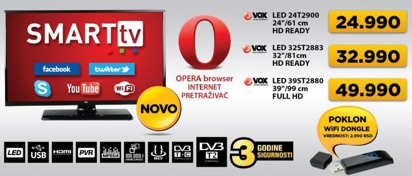 """Televizor LED 24"""" 24t2900 + poklon WiFI dongle"""