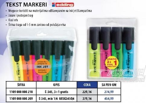 Tekst markeri E-345 mix 6/1