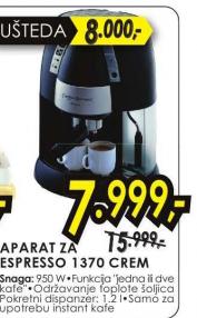 Aparat Za Espresso 1370 CREM
