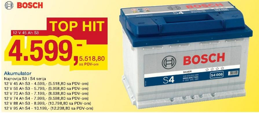 Akumulator 12 V 56 Ah S3