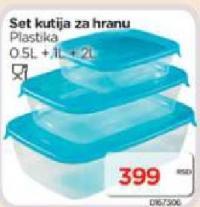 Set kutija za hranu