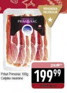Pršut Primorac slajs